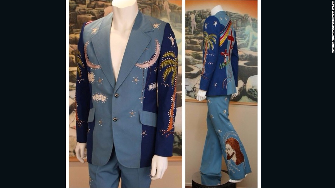 This original Nudie suit featured a picture of Jesus on the trouser leg.