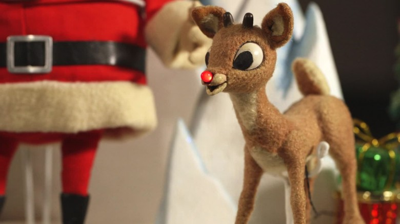 Rudolph the red-nosed reindeer rescued from attic