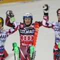 Marcel Hirscher podium