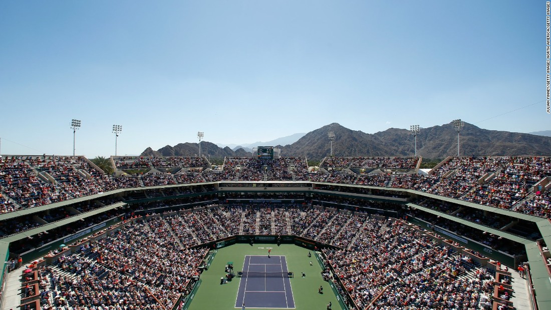 <strong>March, Indian Wells</strong>: Indian Wells, California, is far from the hustle and bustle of Los Angeles. But that's why the players love it. The tranquility. Palm Springs, known for swanky hotels, golf courses and spas, is close by.