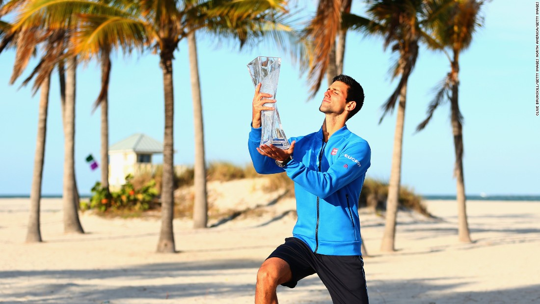 <strong>March, Miami</strong>: Novak Djokovic won the title in Miami last year. In his spare time, did he visit South Beach, take in a Miami Heat game or sample Miami's varied cuisine?