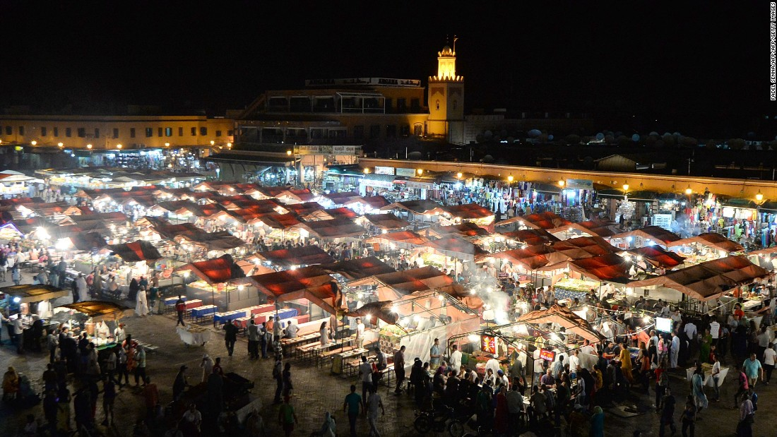 <strong>April, Marrakech</strong>: Buzzing and bustling. That could well describe Marrakech and the Jemaa el Fna square, where food, wares and entertainment are on offer.