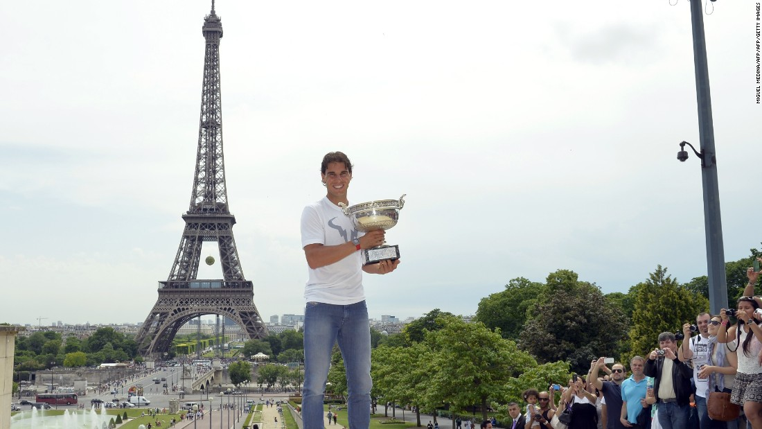 <strong>June, Paris</strong>: Rafael Nadal has been a frequent visitor -- and winner -- in Paris, the City of Light. Two terrorist attacks  in 2015 rocked the French capital and have hit tourism hard, however.