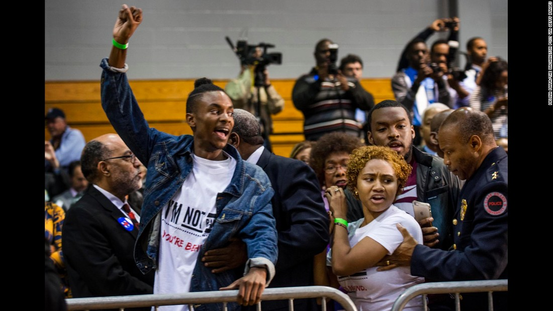 Black Lives Matter protesters continued to disrupt political events in an attempt to be heard, including this Hillary Clinton event in Atlanta.