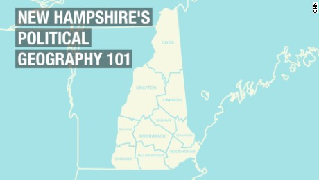 New Hampshire's political geography