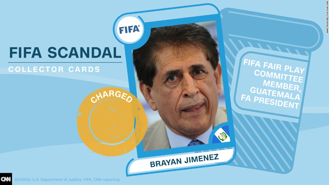 FIFA scandal collector cards Jimenez