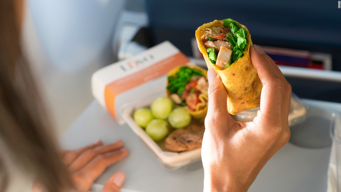 Some of Delta's meals are now made by Luvo, a health-focused frozen food company. Delta does provide calorie information, at least for its Luvo products, such as the 460-calorie Grilled Chicken Wrap and the 520-calorie Fresh Breakfast Medley.<br />
