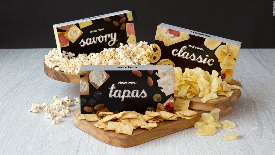 United Airlines was tops in the 2008 survey after it came up with the idea of snack boxes and introduced several healthy options. But since then, the airline has swapped out all but one of the snack boxes with higher-calorie, less nutritious choices. Platkin recommended the 616-calorie tapas box, which contains nuts and hummus, and skipping the cheese spread to reduce the calories.