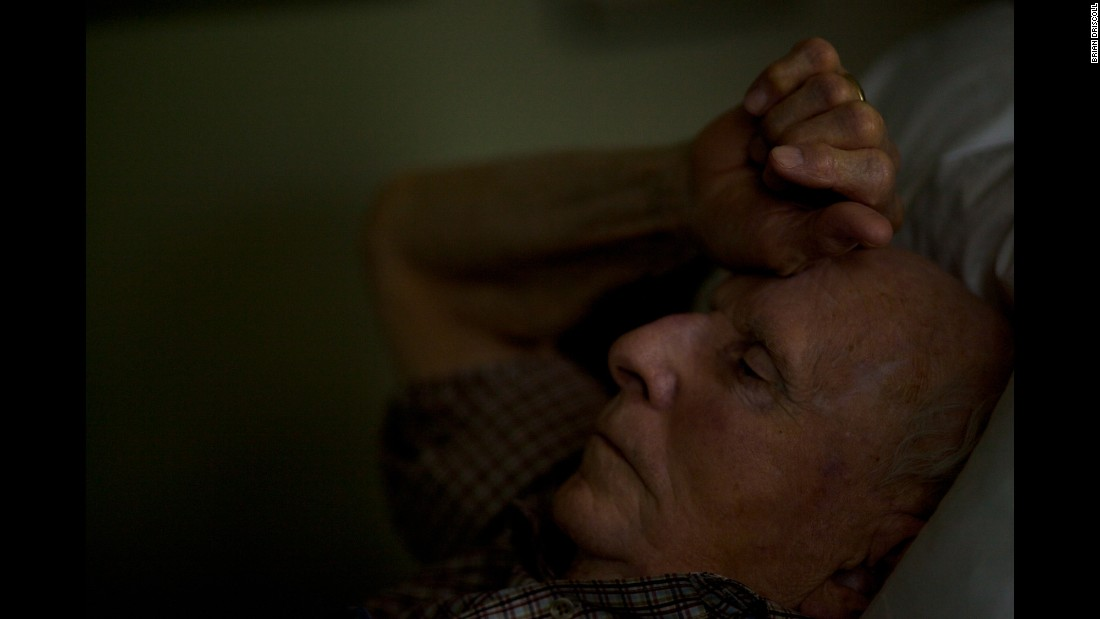 Edward Frampton, an 81-year-old veteran of the U.S. Air Force, rests at his home in Cayce, South Carolina, in October 2014. Photographer Brian Driscoll photographed Frampton before his death on December 14, 2014.