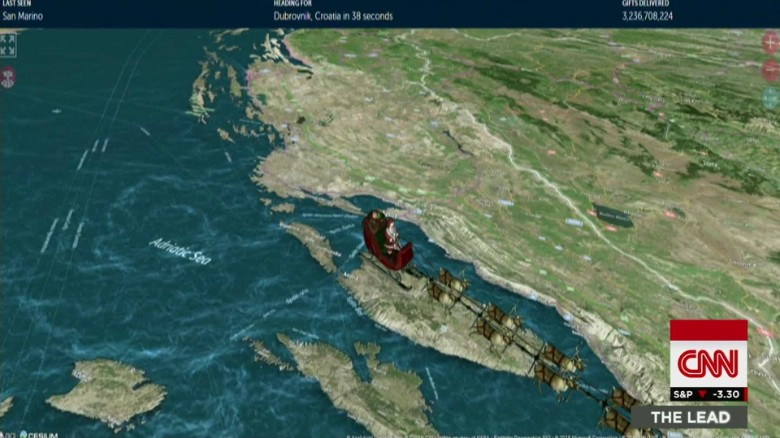 NORAD tracks Santa's trip for 60th year
