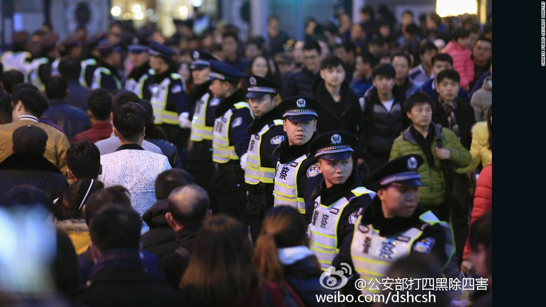China's Ministry of Public Security has increased security measures during the holiday season throughout the country, targeting potential safety risks involving guns and explosives.