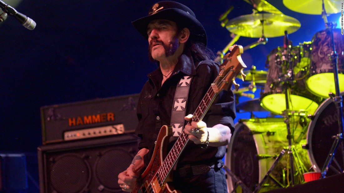"Legendary Motorhead frontman <a href=""http://www.cnn.com/2015/12/28/entertainment/lemmy-motrhead-death/index.html"" target=""_blank"">Lemmy Kilmister</a> died Monday, December 28 after a short battle with cancer, his bandmates announced. He was 70."