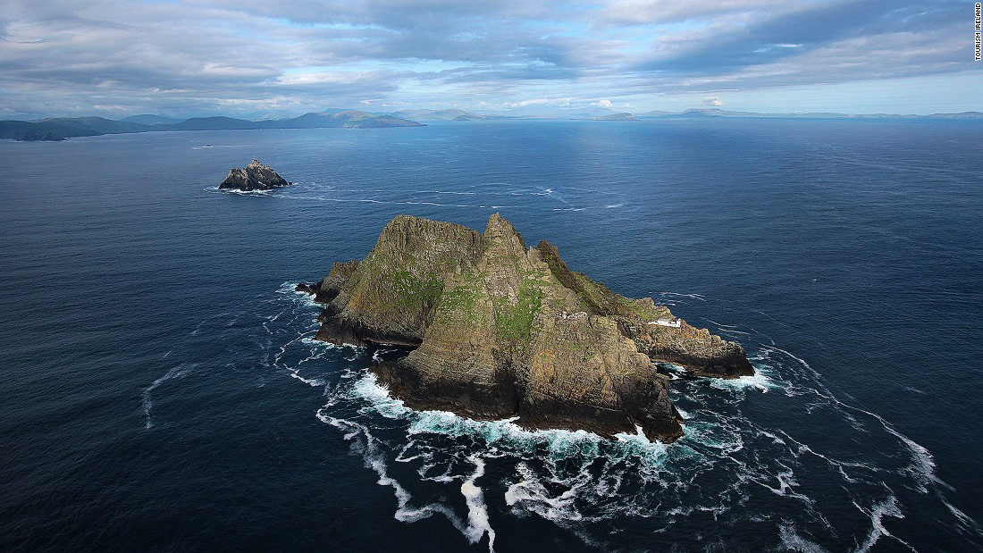 "Skellig Michael is an imposing, windswept hunk of rock and a UNESCO World Heritage Site 12 kilometers off the southwest coast. If it looks familiar, that's because it starred in the ending of ""Star Wars: Episode VII -- The Force Awakens."""