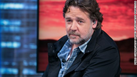 Russell Crowe attends 'El Hormiguero' Tv show at Vertice Studio on April 20, 2015 in Madrid, Spain.