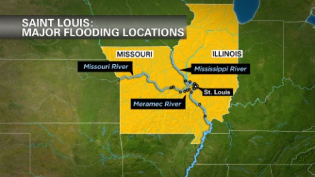Mighty rivers are cresting this week, at some points over historic levels, as Missouri copes with widespread flooding