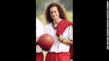 In this Aug. 1, 1987 photo, Andrea Constand poses for a photo in Toronto