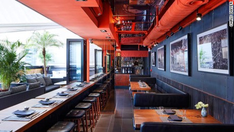 The airy and spacious setting of Koko is a rare commodity in town.