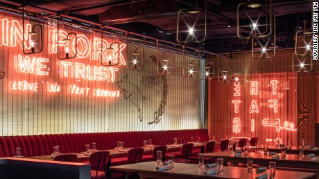 Tom Aikens' second restaurant in Hong Kong uses locally sourced pork.