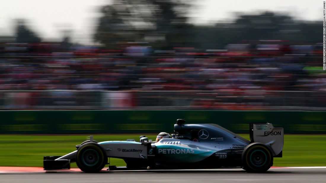 F1 cars are still much faster than Formula E's chargers. World champion Lewis Hamilton clocked his top speed of 2015 when his Mercedes peaked at 225 mph (362 kph) at the Mexico Grand Prix. Formula E cars can hit top speeds of 140 mph (225 kph).