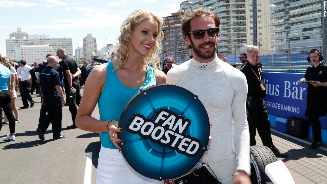 Formula E aims to bring fans closer to the sport. The Fan Boost vote means the audience can even give their favorite driver a 100-kilojoule surge of power during the race. Frenchman Jean-Eric Vergne, pictured, proved popular with the fans in Uruguay.