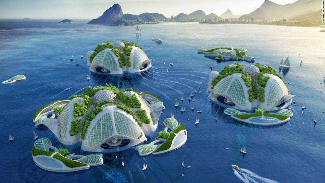 Belgian architect Vincent Callebaut has revealed ambitious plans for a series of underwater eco-villages.