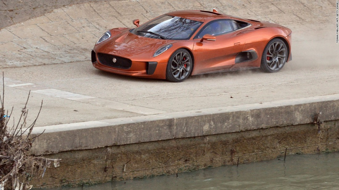 "Jaguars have featured in several James Bond films. In the latest spy thriller ""Spectre"" a Jaguar C-X75, driven by villain Mr Hinx, hits top speed in a car chase in Rome."
