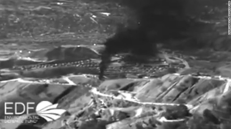 No-fly zone over California gas leak