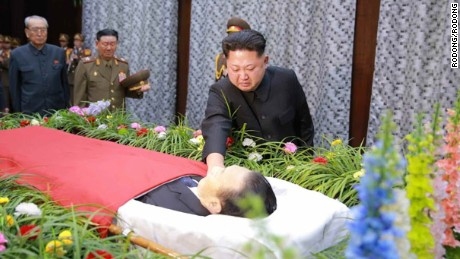 Kim Jong Un paying his respects.