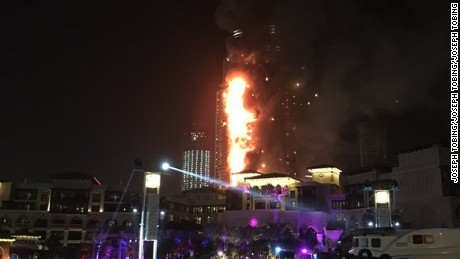 A fire broke out Thursday night at the high-end Address hotel in downtown Dubai, the Dubai government said.