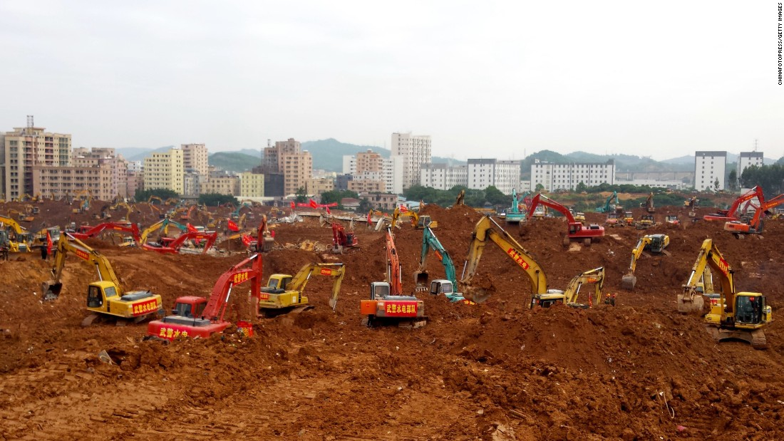 "Excavators dig Monday, December 28, in Shenzhen, China, where more than 70 people are still missing after <a href=""http://www.cnn.com/2015/12/20/asia/china-landslide/"" target=""_blank"">a landslide hit an industrial park</a> on December 20."