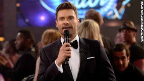 "HOLLYWOOD, CA - MAY 13:  Host Ryan Seacrest speaks during ""American Idol"" XIV Grand Finale at Dolby Theatre on May 13, 2015 in Hollywood, California.  (Photo by Kevork Djansezian/Getty Images)"