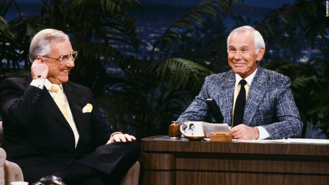 "We've seen Jay, David, Jimmy and Jimmy, but there will never be another Johnny -- Carson, who hosted the ""The Tonight Show"" for 30 years. Though he was always the star, <a href=""http://www.cnn.com/2005/SHOWBIZ/TV/01/24/carson.appreciation/"">he was usually happy</a> to make himself the butt of jokes or let his guests take the lead."