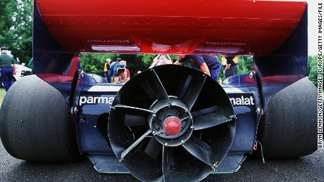 The Brabham BT46B ''Fan Car'' on show during the Goodwood Festival of Speed in 2001.