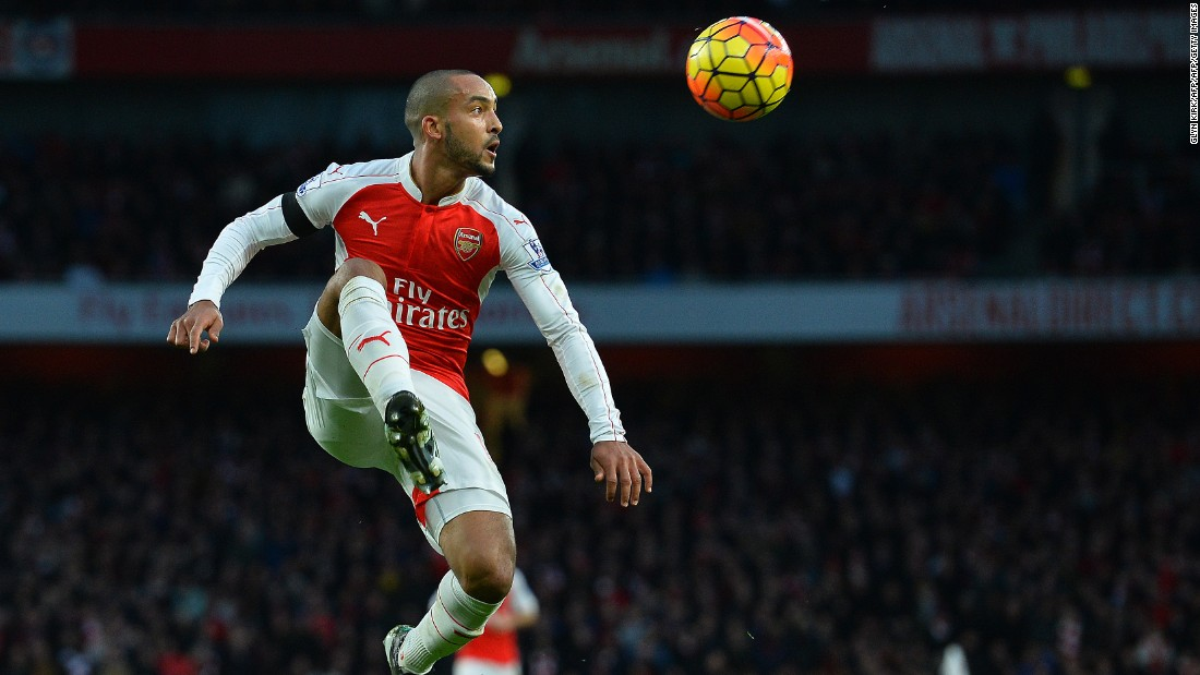 Arsenal's English midfielder Theo Walcott was largely kept quiet by a well-organized Newcastle side.