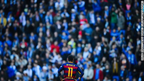 Neymar struggled to get behind a determined Espanyol rearguard.