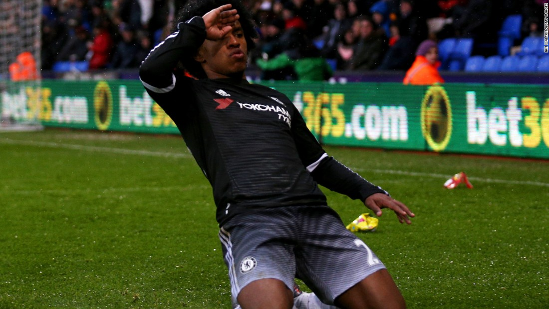 Willian scored the goal of the match to put Chelsea two-up at Selhurst Park.
