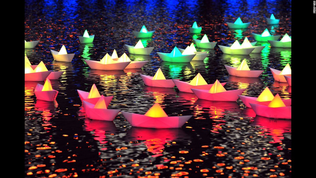 "At Light City Baltimore, a weeklong event kicking off in late March, light art installations will illuminate a 1.2-mile path along the city's Inner Harbor. This installation, ""Voyage"" by <a href=""http://www.aether-hemera.com"" target=""_blank"">Aether & Hemera</a>, is among the works to be displayed."