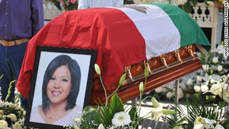Gisela Mota Ocampo is laid to rest in Temixco, Mexico.