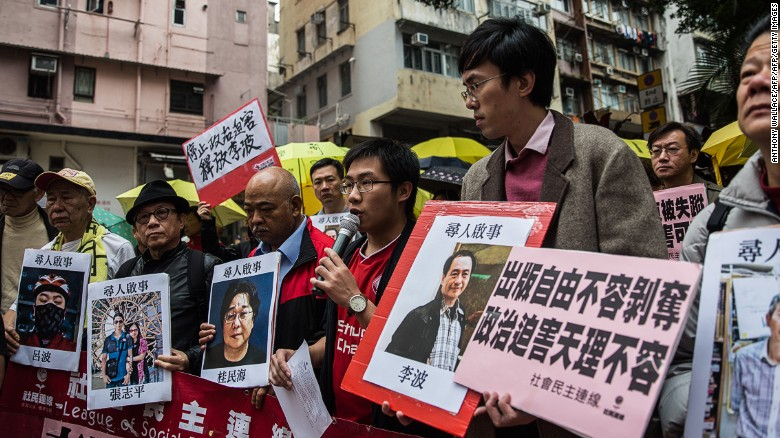 Concerns over missing Hong Kong booksellers
