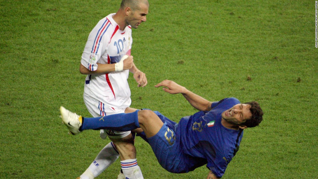 The final act of Zidane's glittering playing career was to headbutt Italy's Marco Materazzi while playing for France in the 2006 World Cup final.