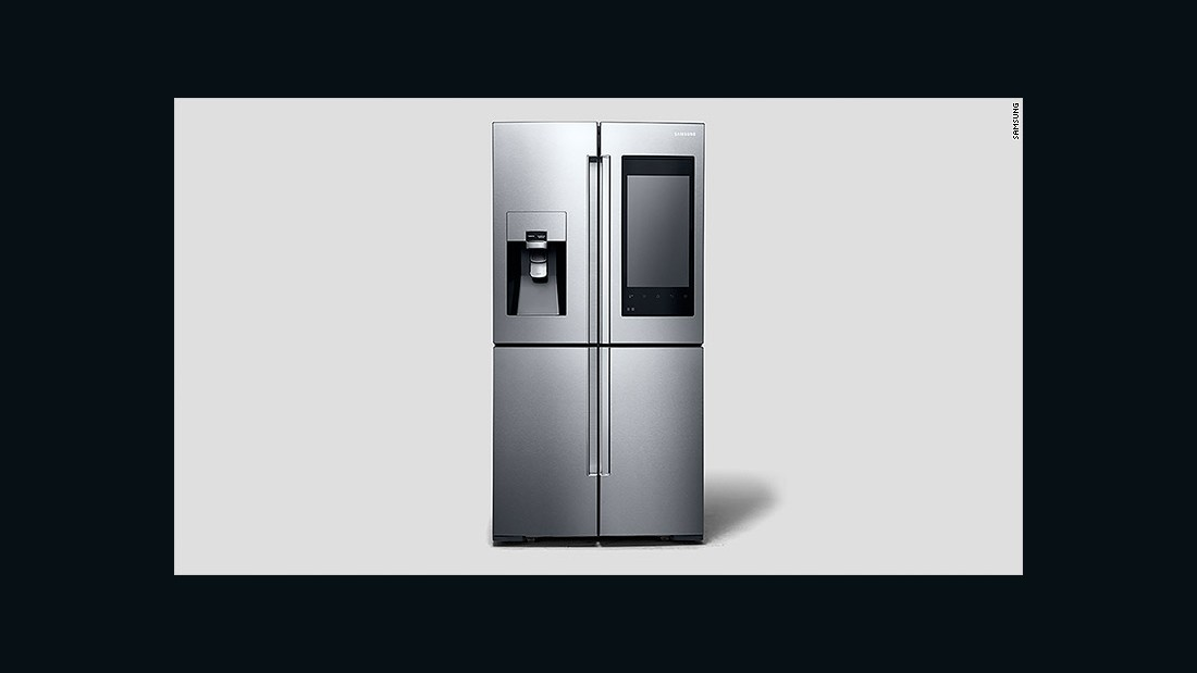 Samsung unveiled its smart refrigerator -- the Family Hub -- at CES 2016. It won't be long before you'll be able to shout instructions (including flight searches) at all your household appliances.