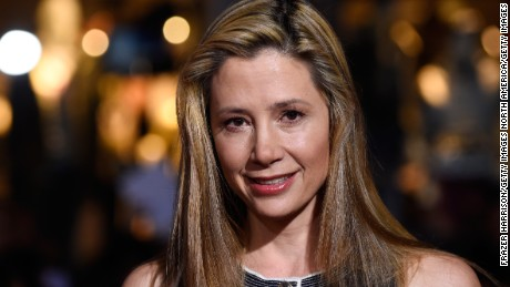 """HOLLYWOOD, CA - NOVEMBER 04:  Actress Mira Sorvino attends the premiere of Disney's """"Big Hero 6"""" at the El Capitan Theatre on November 4, 2014 in Hollywood, California.  (Photo by Frazer Harrison/Getty Images)"""