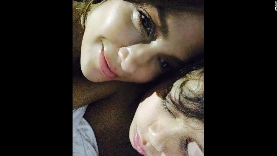 "Actress and singer Jennifer Lopez takes a selfie with her son, Maximilian, on Monday, January 4. ""Favorite part of the day!"" Lopez said on Instagram, along with the hashtags ""#sleepyboy"" ""#coconuts"" ""#babylove"" and ""#mamashome."""
