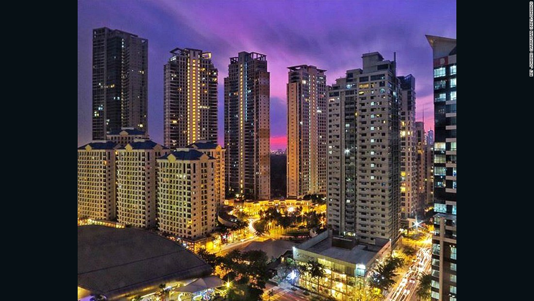 "The towers of Bonifacio Global City (BGC) near Manila have grown rapidly, according to local resident and Instagrammer Rey Johnino Carinugan (<a href=""https://www.instagram.com/reyjohnino/"" target=""_blank"">@ReyJohnino</a>)"