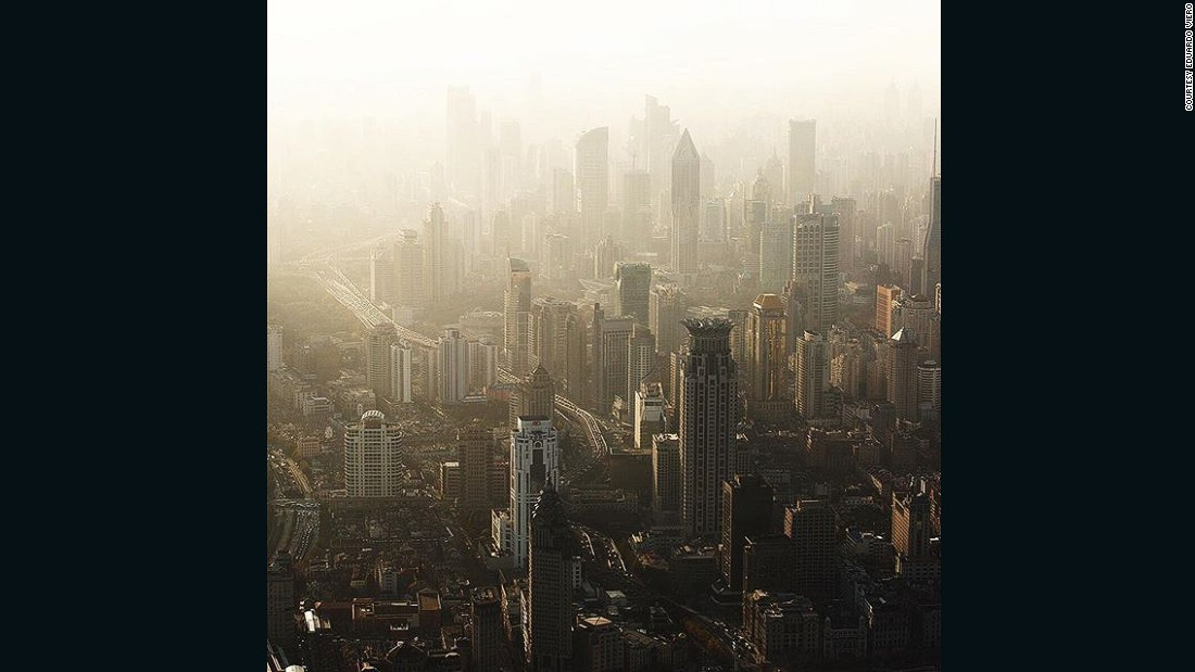 The 'concrete jungle' of Shanghai is captured in this photo sent in by Eduardo Viero (@eduviero).