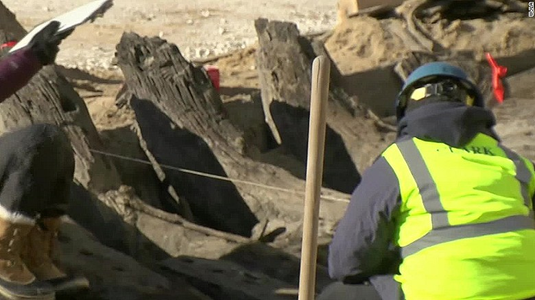 Construction workers unearth centuries-old ship