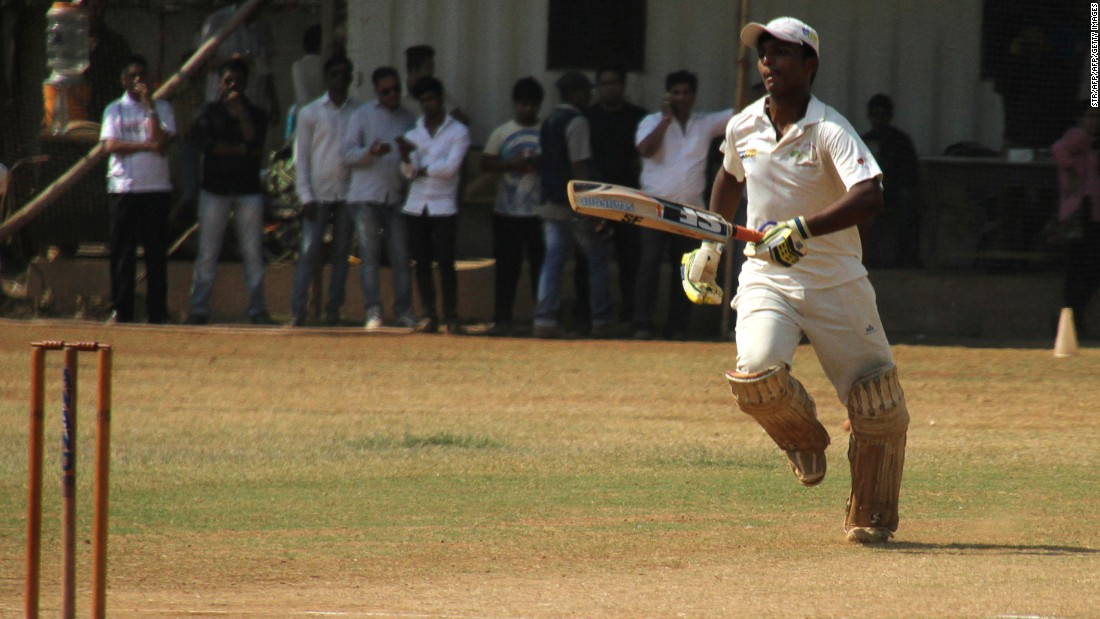 Dhanawade reached 1,009 off just 323 balls, hitting 59 sixes and 127 fours in 395 minutes at the crease during the HT Bhandari Cup inter-school tournament.