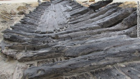 The city's archaeologist says that only a third of the hull of the vessel may have been found.