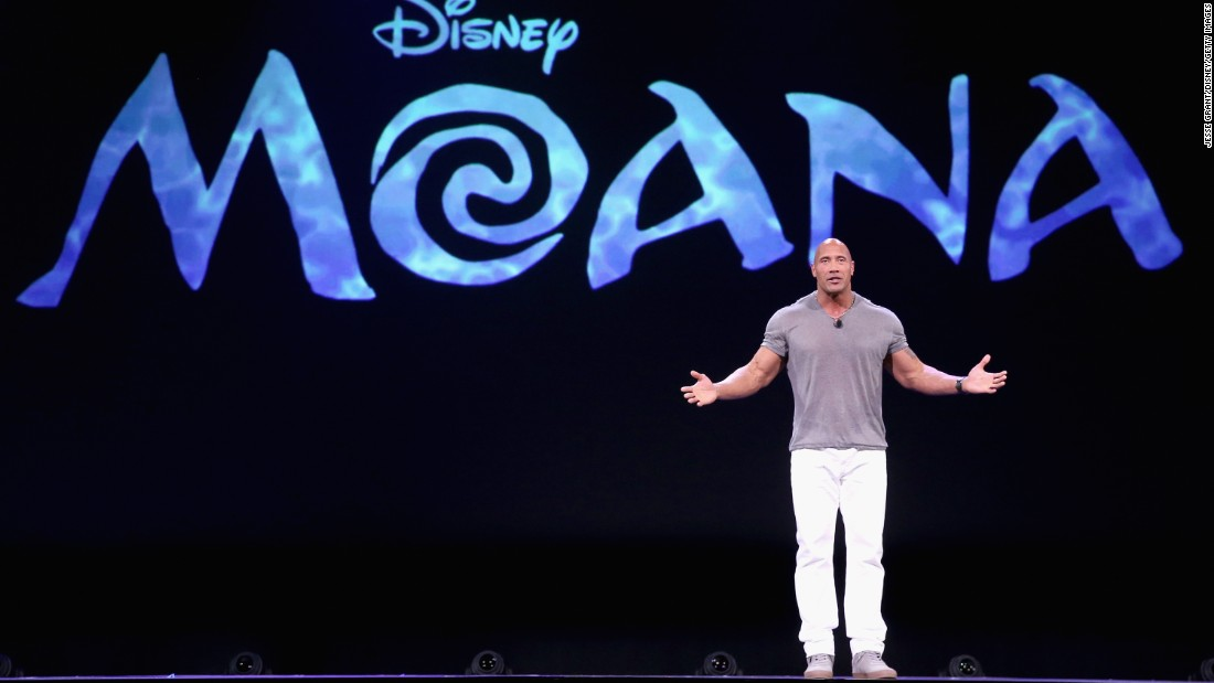 """One of Johnson's many new projects is the Disney animated musical """"Moana,"""" in which he plays a demigod. The Polynesian-inspired film will be released in November."""
