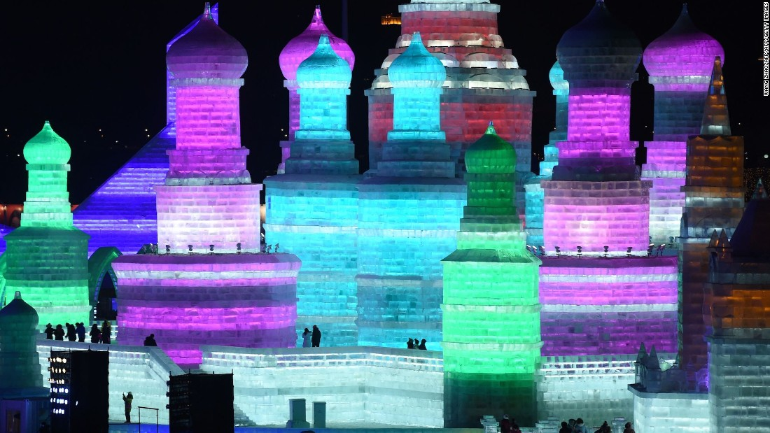 The festival's main attraction is the Ice and Snow World.